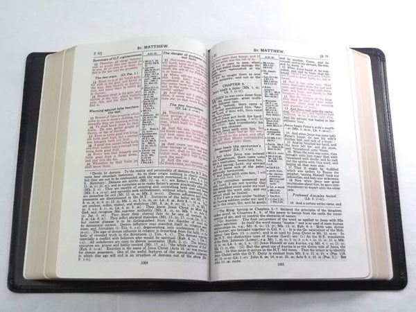 red letter bible quot classic quot letter study bible 1917 scofield notes 13816 | 300RLOpen 600x450