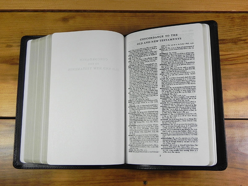Handsize Turquoise Reference Bible - Corporate Series